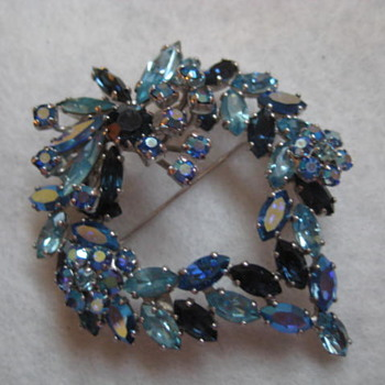 SHERMAN's Blue Heart - Costume Jewelry