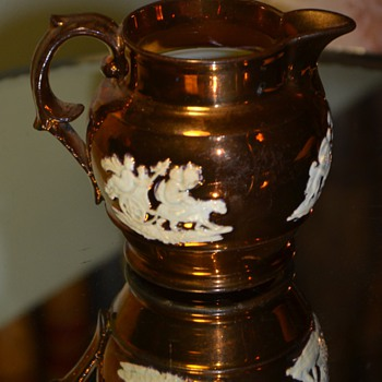 Another Copper Luster Pitcher - Pottery