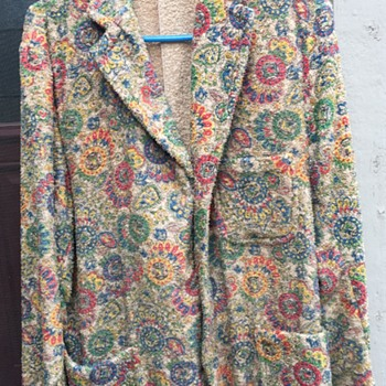 My Great Uncle's crazy terry cloth blazer - Mens Clothing