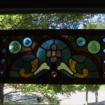 1890's Victorian Stained Glass Window - Art Glass