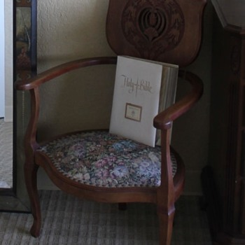 Any info on this antique chair?? - Furniture