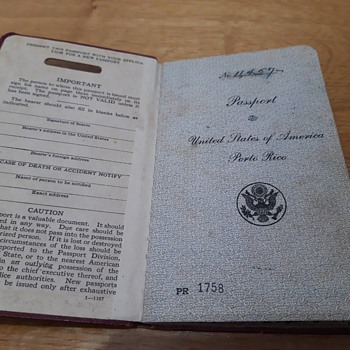 Ca. 1931 USA Territorial/Commonwealth Passport Puerto Rico, signed by Teddy Roosevelt Jr. Governor of Puerto Rico-Super Rare! - Paper