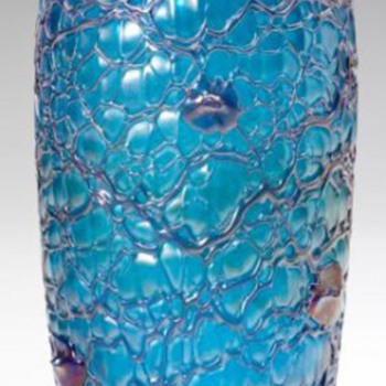 "Loetz ""New Wave"" Deco Chine Vase - Art Glass"