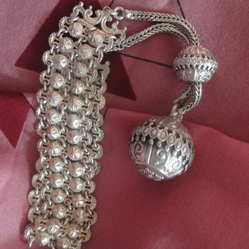 Marvelous Sterling silver bracelet with ball charm - Fine Jewelry