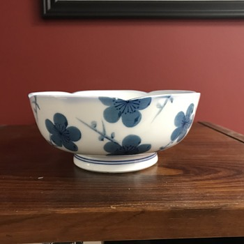Porcelain bowl blue and white - Asian