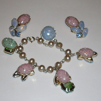 Juliana charm bracelet and earrings. - Costume Jewelry
