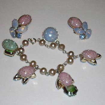 Juliana charm bracelet and earrings.