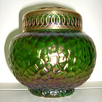 Kralik Martele Rose Bowl - Art Glass