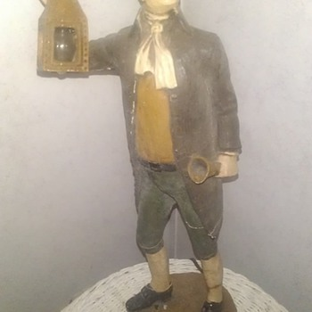 Colonial man holding lamp - Lamps