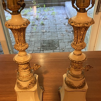 Mystery cast metal lamps.  - Lamps