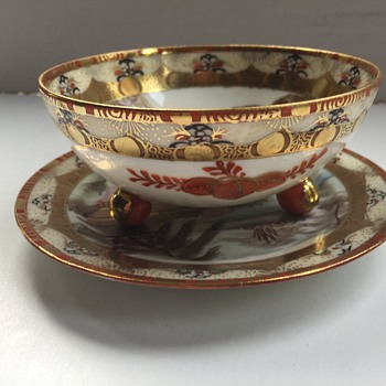 Royal Nippon footed bowl and saucer - Asian