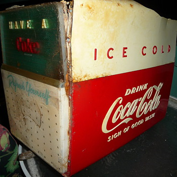 Mystery Coca-Cola item: cooler or toilet?! - Coca-Cola