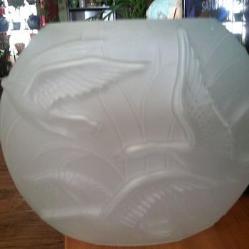Phoenix Glass Art Deco Vase - Art Glass