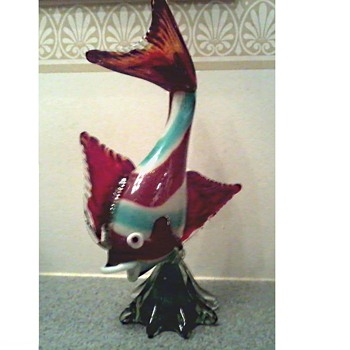 """Return of the """"Whimsical"""" Art Glass Fish / Unknown Maker and Age (Possibly Rikaro Crystal?) - Art Glass"""