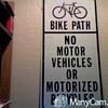bike path sign