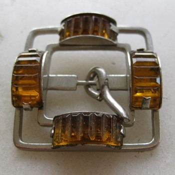 Art deco glass buckle - Accessories