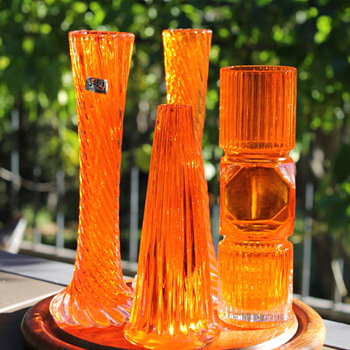 More orange glass from Japan - Art Glass