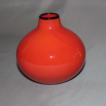 Small Tango Vase  Czech? - Art Glass