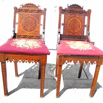 ID These Chairs ? Extream Carving and Inlays - Furniture