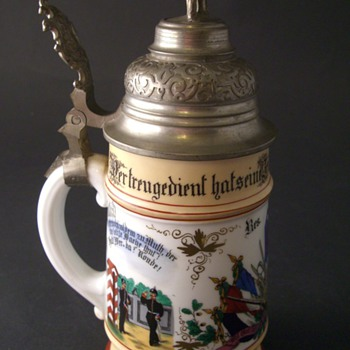 Imperial German beer stein of Reservist Kaiserman