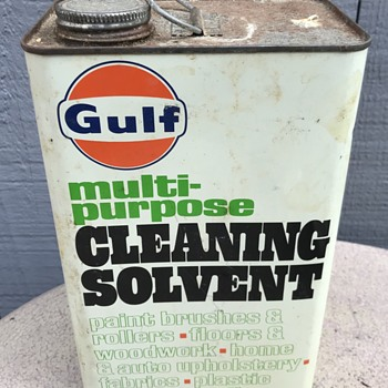 Gulf multi purpose cleaning solvent metal can. - Petroliana