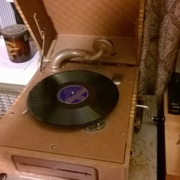 Silvertone Portable Phonograph - Records