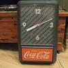 COCA COLA LIGHTED CLOCK 1980's