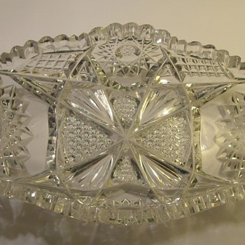 Lead crystal dish - Glassware