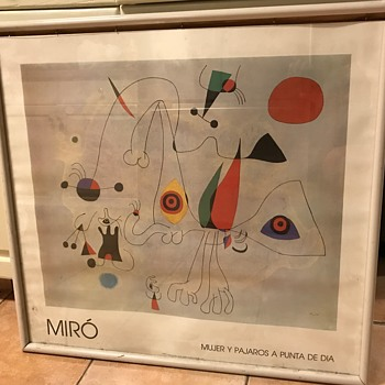 Anyone know about this poster - Joan Miro - Mujer y Pajaros a Punta de Dia