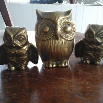 Brass owls - Animals