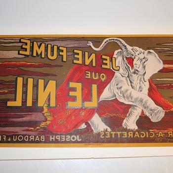 Cappiello cigarette piece reverse printed - Tobacciana