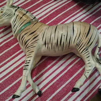 Antique German Candy Container Zebra - Advertising