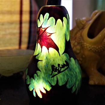 LOETZ CAMEO GLASS VASE SIGNED RICHARD - Art Glass