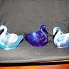 trio of Fenton swans