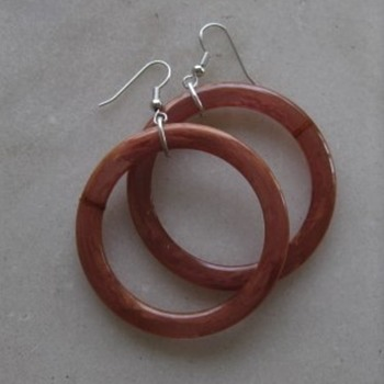 Bakelite hoop earrings - Costume Jewelry