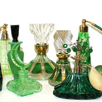 Green Perfume Bottles - Bottles