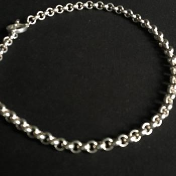 Vintage Italian silver necklace