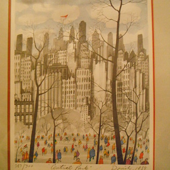 Central Park - John Dorish &  Sumi-e  Ann White - Posters and Prints
