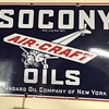 Socony oils air craft porcelian sign