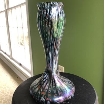 Josef Rinkskopf Art Nouveau Twisted Vase - Art Glass