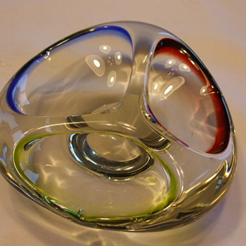 "Example of Triple ""Cloison"" Colored Ashtray For CW Member- artislove - Art Glass"