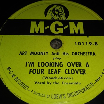 Way Back Wednesdays...Art Mooney...On 78 RPM Shellac - Records