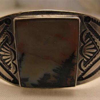Petrified wood jasper cuff bracelet - Fine Jewelry
