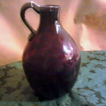 Amethyst glass decanter from Pennsylvania or South Jersey - Glassware