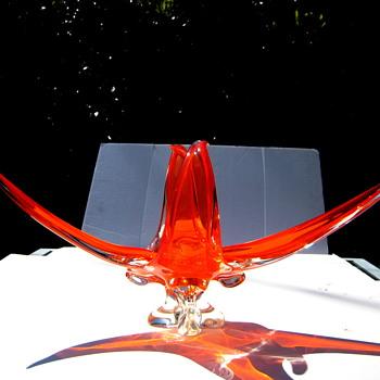 Large Canadian art glass console - Art Glass