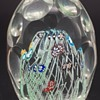 """Murano Paperweight - Latticino - Milefiori - Thumbprint - 4"""""""