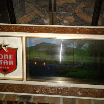 Lone star 1945 vintage belted wall frame..works perfect collector's edition