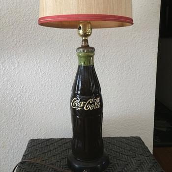 Chalkware Coca Cola Lamp - Coca-Cola