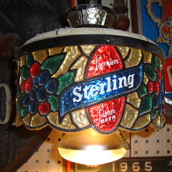 Sterling Beer Hanging Lamp Advertising Item....... - Breweriana