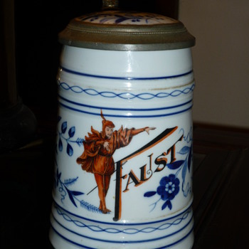 Faust German Beer Stein-  an image apppears when the beer has been consumed - Breweriana